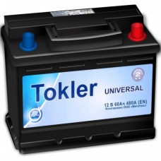 Аккумулятор TOKLER UNIVERSAL 6CT-60Ah R+ (1) 480А EN