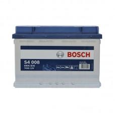 Аккумулятор Bosch S4 (S4008) 6СТ-74Ah R+ 680A (EN)