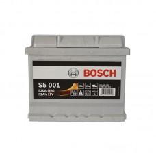 Аккумулятор Bosch S5 (S5001) 6СТ-52Ah R+ 520A (EN) низкобазовый