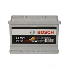 Аккумулятор Bosch S5 (S5004) 6СТ-61Ah R+ 600A (EN) низкобазовый