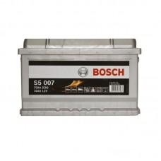 Аккумулятор Bosch S5 (S5007) 6СТ-74Ah R+ 750A (EN) низкобазовый