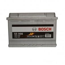 Аккумулятор Bosch S5 (S5008) 6СТ-77Ah R+ 780A (EN)