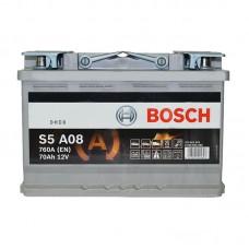 Аккумулятор Bosch S5 AGM Start/Stop (S5A08) 6СТ-70Ah R+ 760A (EN)