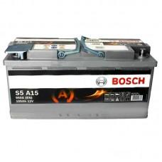 Аккумулятор Bosch S5 AGM Start/Stop (S5A15) 6СТ-105Ah R+ 950A (EN)
