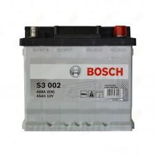 Аккумулятор Bosch S3 (S3002) 6СТ-45Ah R+ 400A (EN)