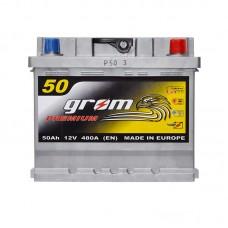 Аккумулятор Grom Premium 6СТ-50Ah R+ 480A (EN)