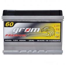 Аккумулятор Grom Premium 6СТ-60Ah R+ 600A (EN)