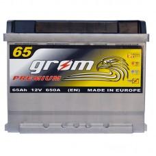 Аккумулятор Grom Premium 6СТ-65Ah L+ 650A (EN)