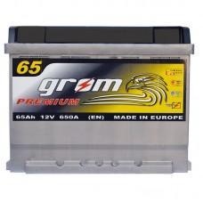 Аккумулятор Grom Premium 6СТ-65Ah R+ 650A (EN)