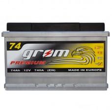 Аккумулятор Grom Premium 6СТ-74Ah R+ 740A (EN)