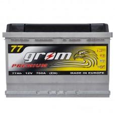 Аккумулятор Grom Premium 6СТ-77Ah R+ 760A (EN)