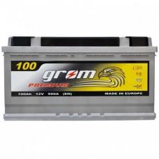 Аккумулятор Grom Premium 6СТ-100Ah R+ 900A (EN)