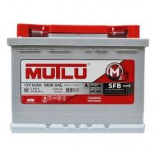 Аккумулятор Mutlu SFB (Ser2) 6CT-60Ah R+ 510A (EN) низкобазовый