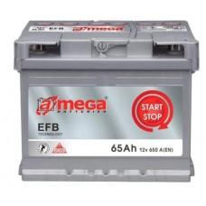 Аккумулятор А-Mega 6CT-65Ah R+ 650A (EN) EFB